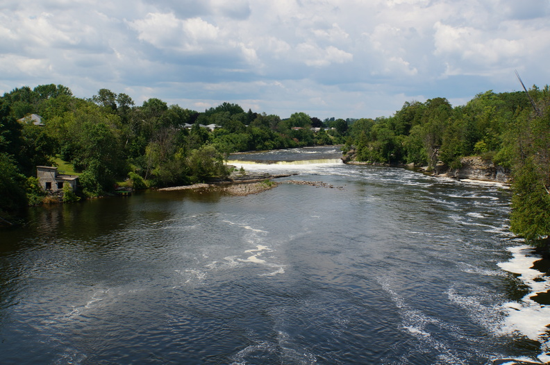 Trent river from suspension bridge